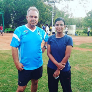 Legendary Australian cricketer and coach meets Aishwarya Rajesh!