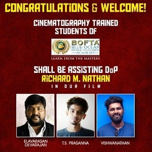 BOFTA students making their debut in Gautham Karthik's Mr Chandramouli!