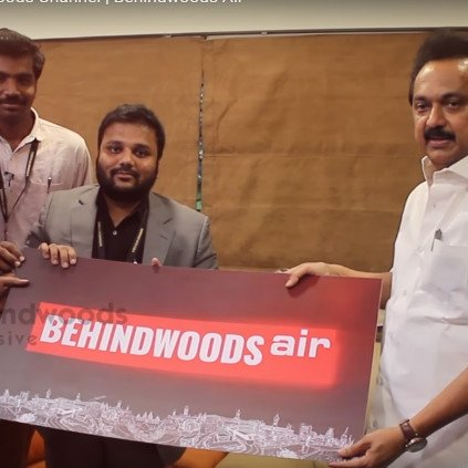 M.K.Stalin launches Behindwoods Air YouTube channel